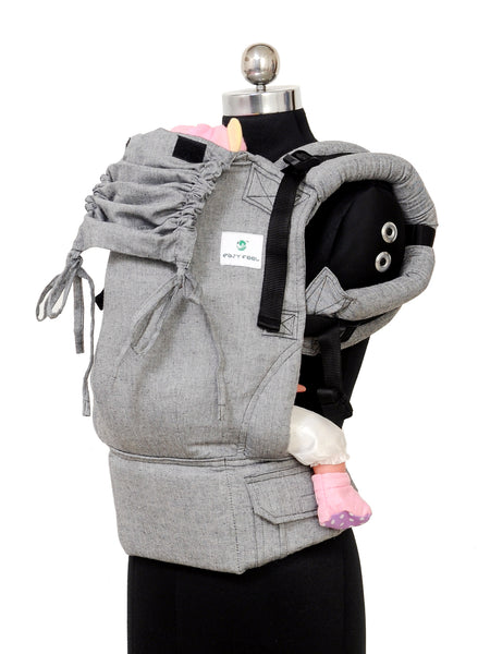 Easy Feel Full Buckle Ergonomic Soft Structured Carrier (Standard Size) - Graphite