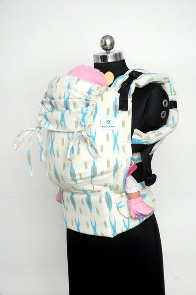 Easy Feel Full Buckle Ergonomic Wrap Converted Soft Structured Carrier (Toddler Size) - Ivory