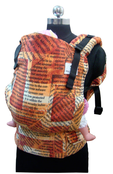 Woven Cotton Toddler Full Buckle - Newspaper