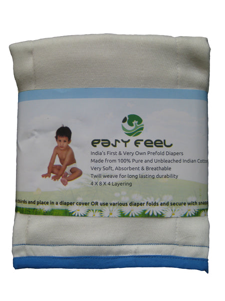Easy Feel 100% Unbleached Cotton Prefold Cloth Diapers - Infant Size