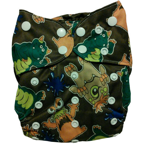 Pororo Printed PUL Bamboo All In One (AIO) Cloth Diaper