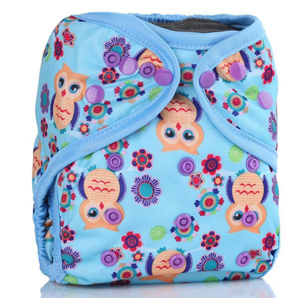 Easy Feel Printed PUL Double Gusset Diaper Cover