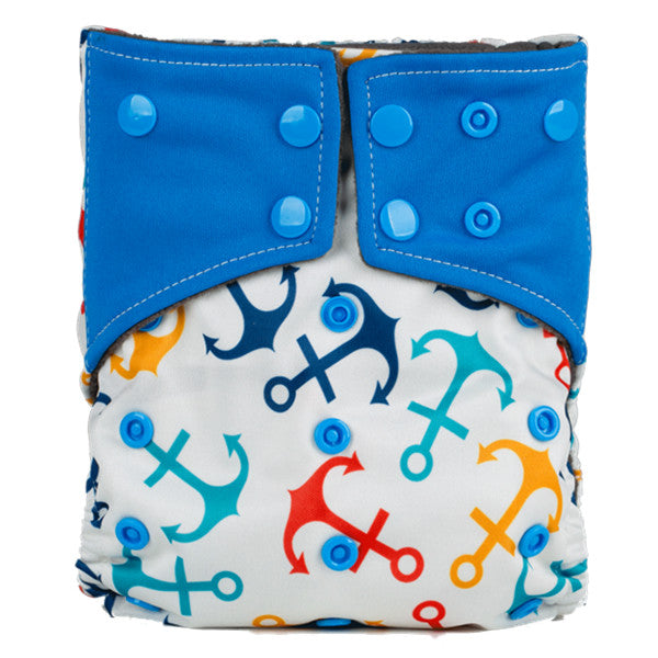 Easy Feel Printed PUL Double Gusset Bamboo Charcoal Pocket Cloth Diaper (Without Insert)