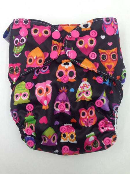 Pororo Printed PUL Double Gusset Suede Pocket Cloth Diaper (Without Insert)
