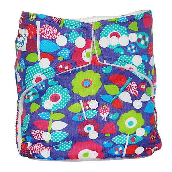 Easy Feel Printed PUL Single Gusset Bamboo Charcoal Pocket Cloth Diaper (without Insert)
