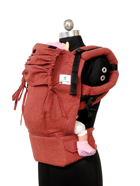 Easy Feel Full Buckle Ergonomic Soft Structured Carrier (Standard Size) - Ruby