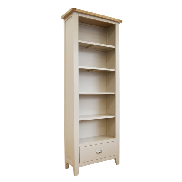 Fairstead Grey Painted Bookcase - Tall, Narrow