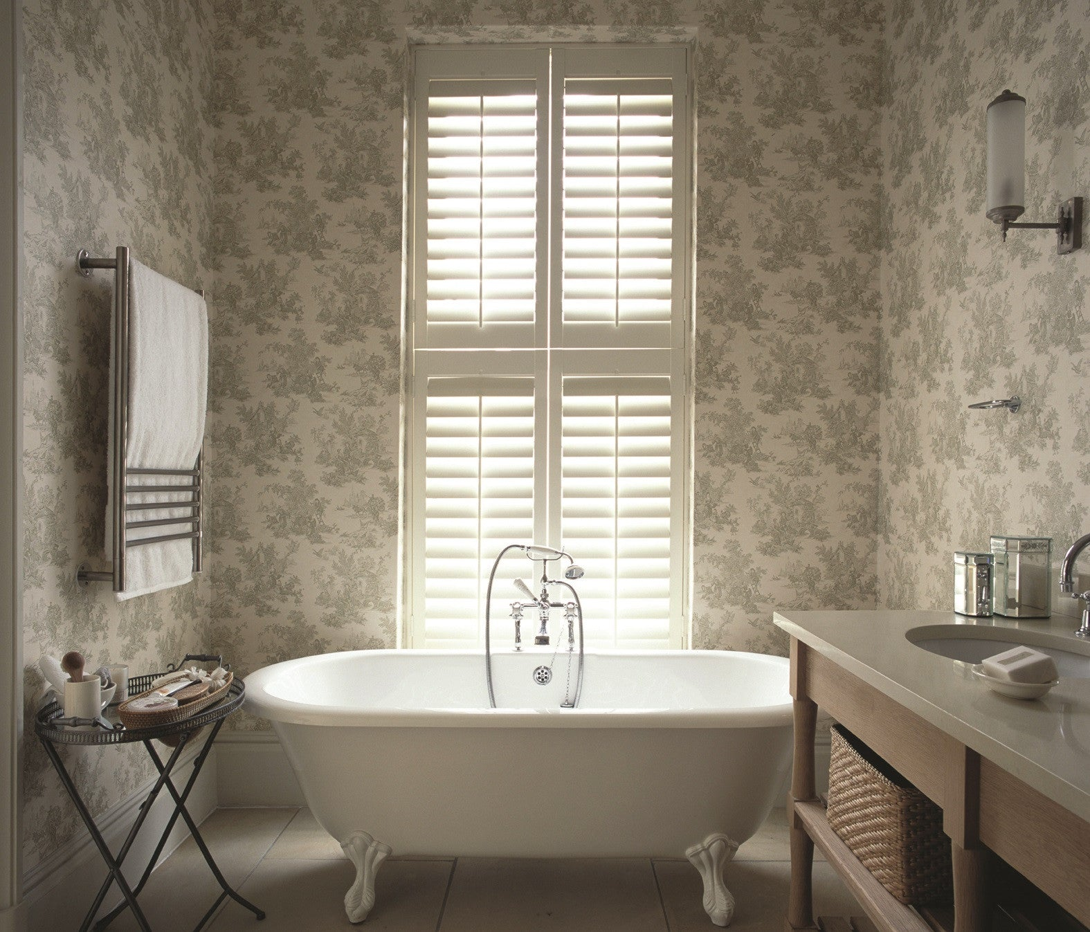 Looking to have shutters in your bathroom