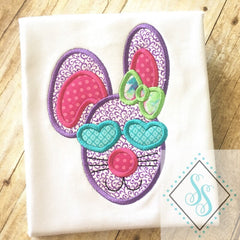 Ms. Cool Bunny Applique