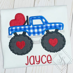 Monster Love Truck Applique