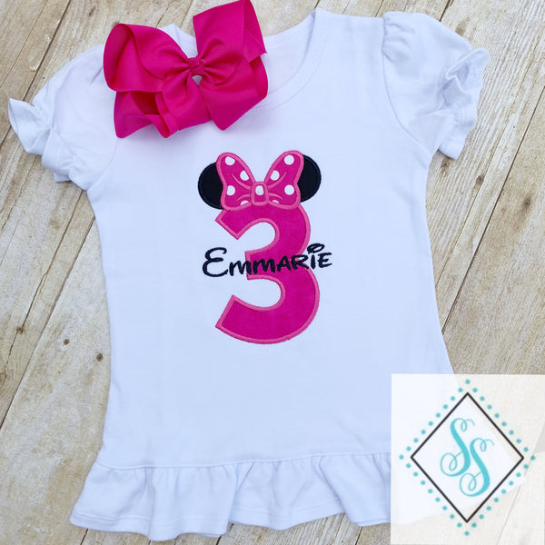 Mouse Ears Theme Birthday Shirt