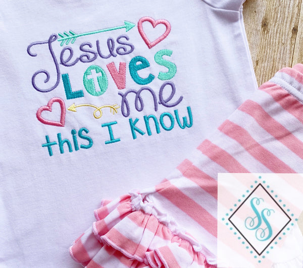Jesus Loves Me This I Know - Embroidery