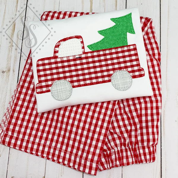 Vintage Truck and Tree - Boy's Applique Shirt