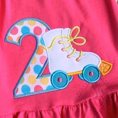 Girl's Roller Skate Birthday Shirt