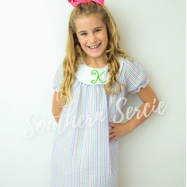 Short Sleeve Bishop Dress