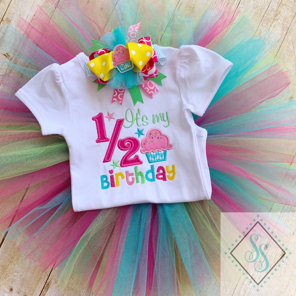 Cupcake 1/2 Birthday Shirt