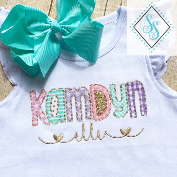 Girl's Name Applique