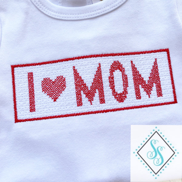 I Love Mom Faux Smock