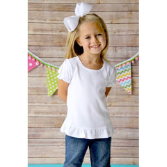 Rainbow Stripe Scallop Applique Shirt