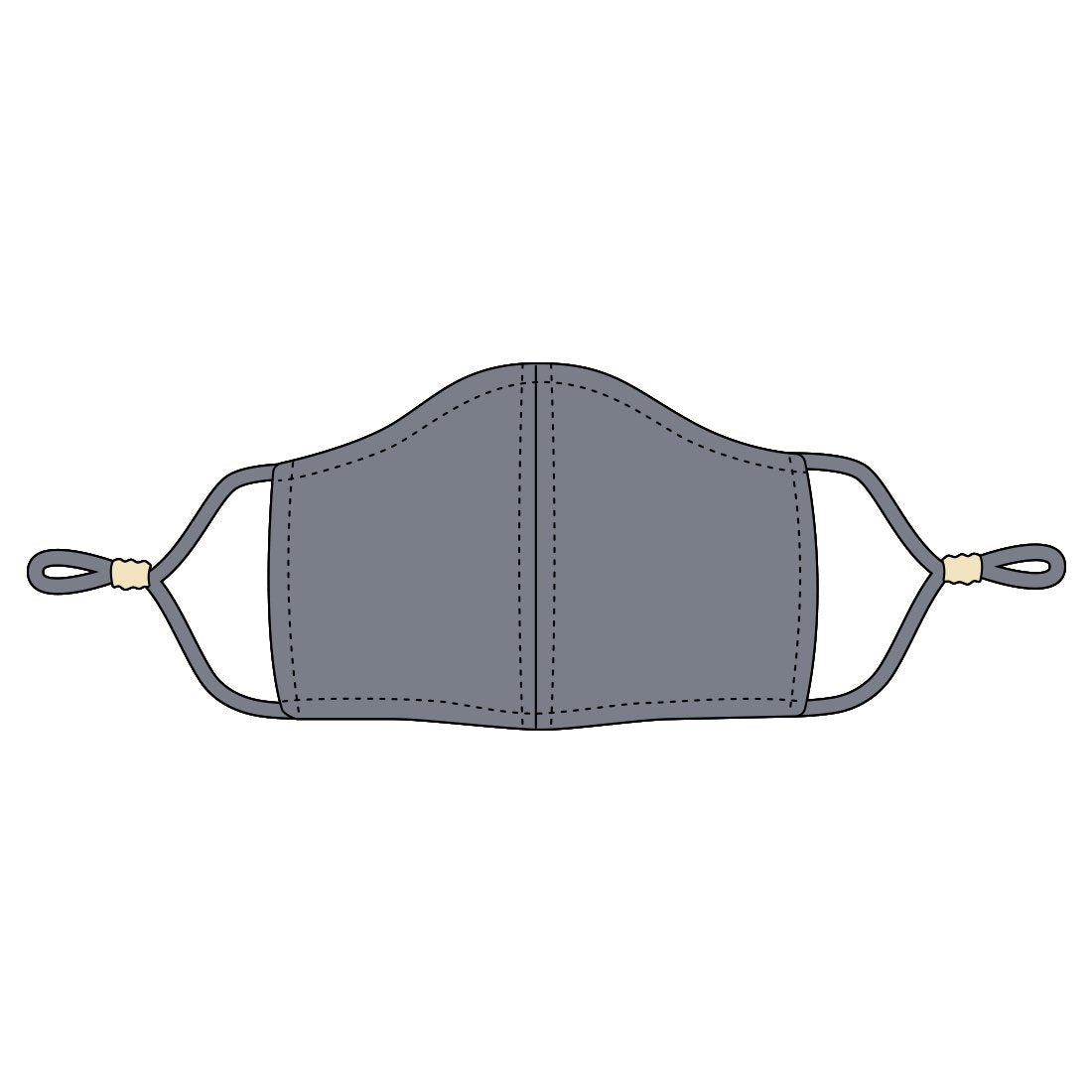 Grey Adjustable Adult Face Mask