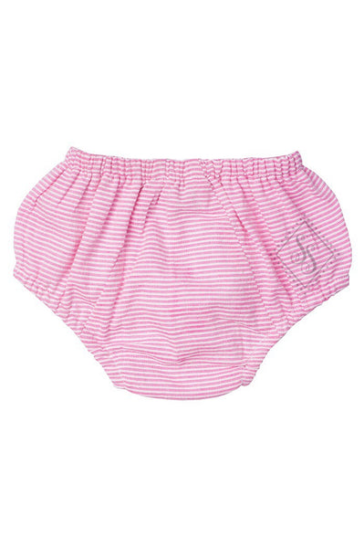 Seersucker Diaper Cover/Bloomers Pink