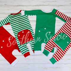 Unisex Faux Butt Flap Christmas Jammies