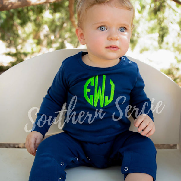Boys Solid Long Romper