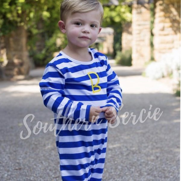 Boys Striped Long Romper
