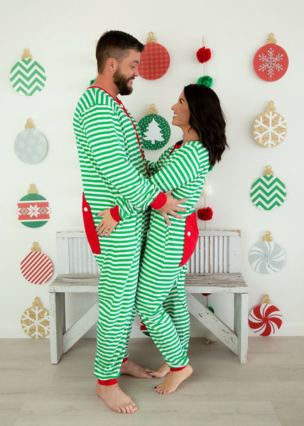 Adult Unisex Faux Butt Flap Christmas Jammies