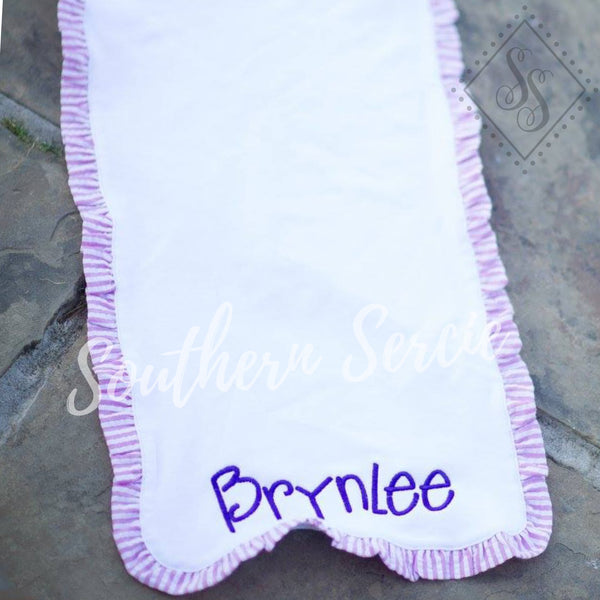Burp Cloth with Ruffle
