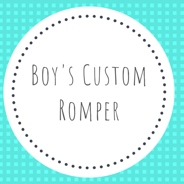 Boys Solid Long Romper - Applique