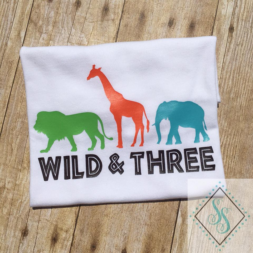 Wild and Three Birthday Shirt