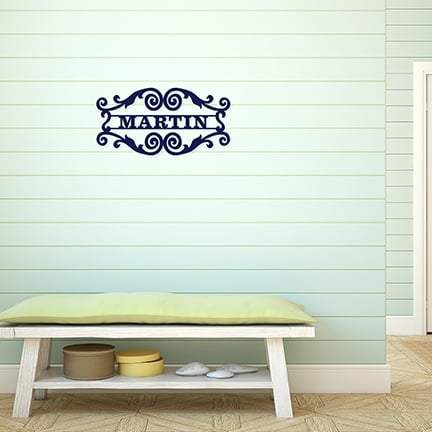 Vine Name Design Wood Monogram