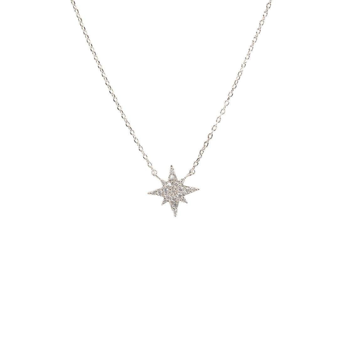 CZ Starburst Necklace