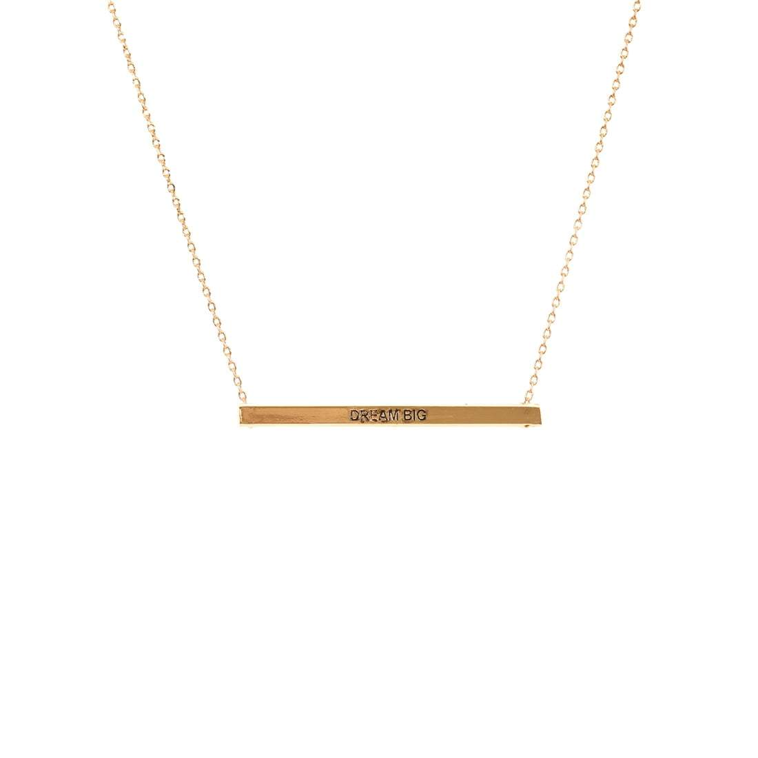 Dream Big Bar Necklace
