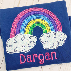 Rainbow Applique - Bean Stitch