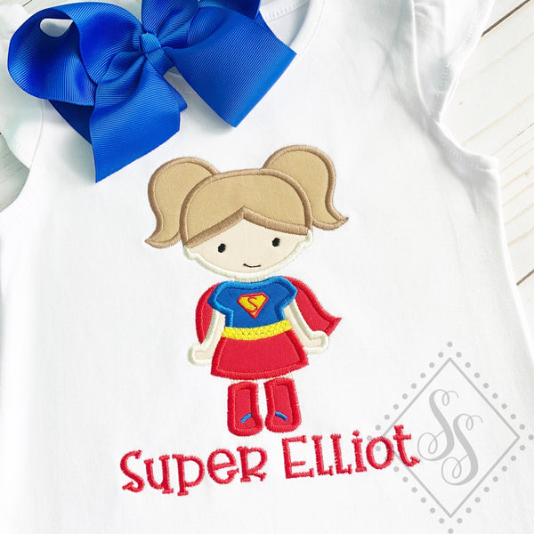 Super Girl Applique