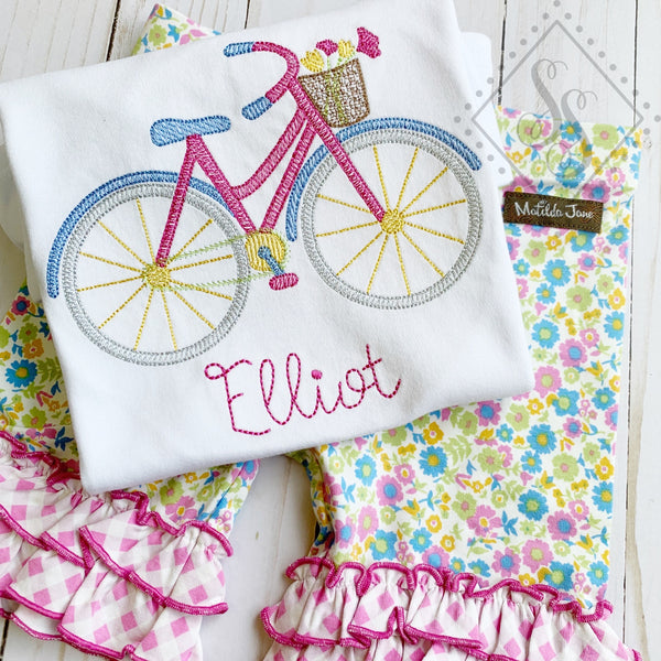 Bicycle Flowers Sketch Shirt