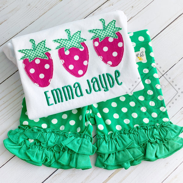 Strawberry Trio Applique