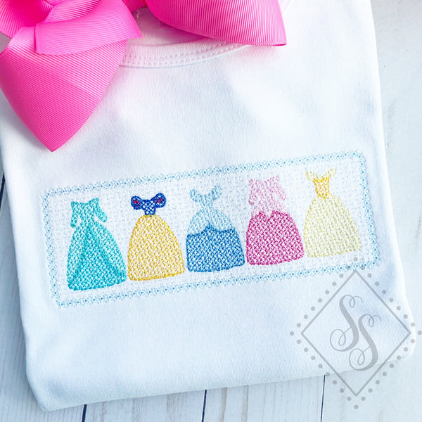 Princess Dress Line - Faux Smock