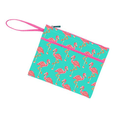Tickled Pink Zip Pouch Wristlet