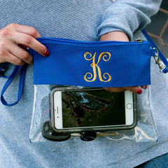 Royal Blue Clear Purse