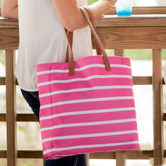 Hot Pink Stripe Tote