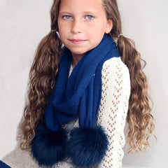 Navy Bella Kids' Scarf