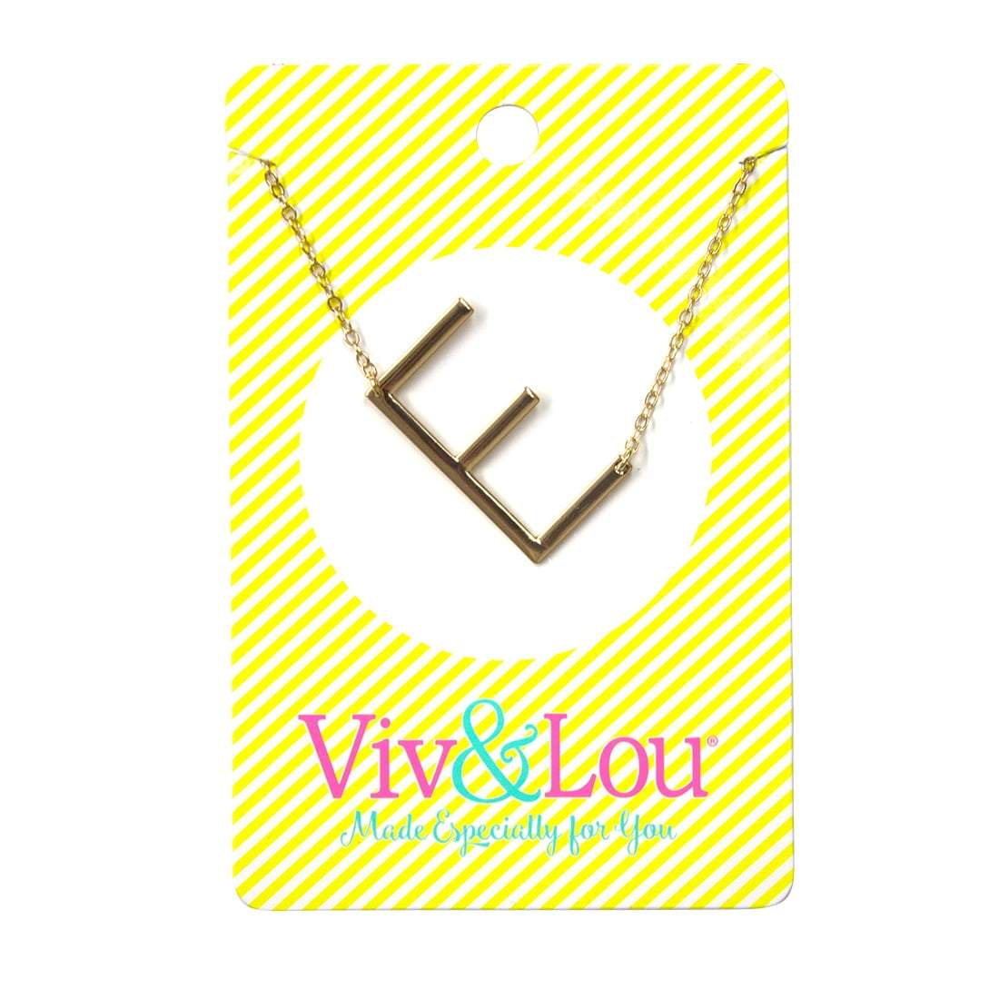 E Gold Initial Necklace
