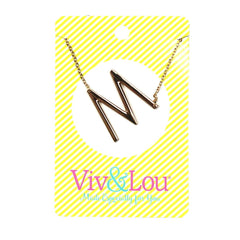 M Gold Initial Necklace