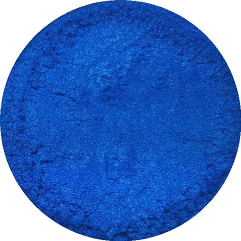 Electric blue cosmetic mica powder