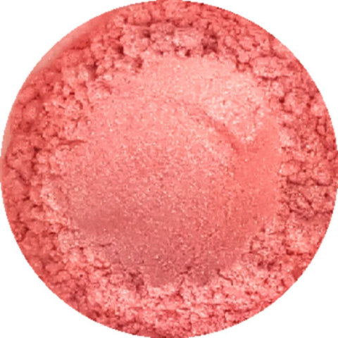 Blushed pink cosmetic mica powder