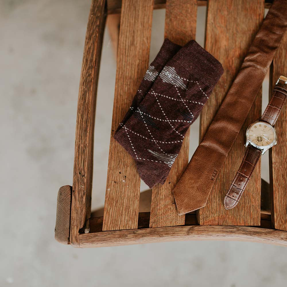 WEEF Handmade Leather Ties makes your wedding even more special. Perfect wedding inspiration.