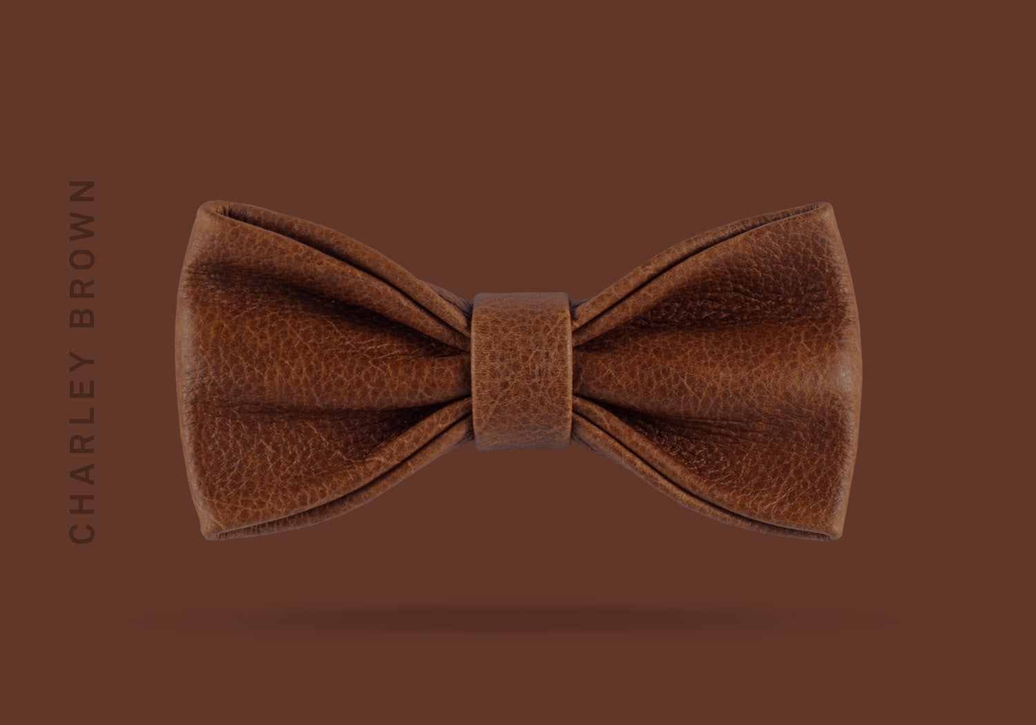 This charley brown WEEF handmade leather bow is a great present or gift idea for dapper and stylish gentlemen for fathers day, valentines day or Christmas.